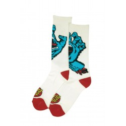 CHAUSSETTE SANTA CRUZ - SCREAMING HAND - WHITE