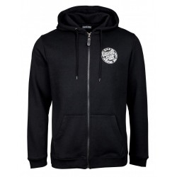SWEAT SANTA CRUZ VOLTAGE ZIP HOOD - BLACK