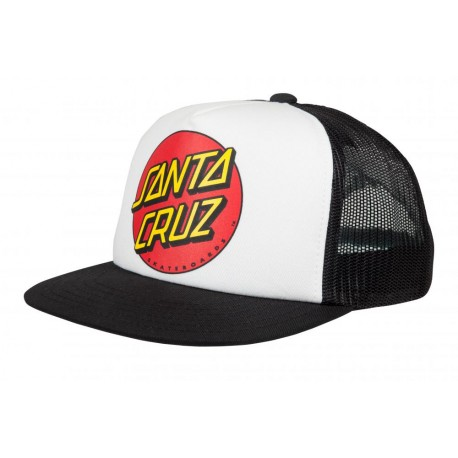 CASQUETTE SANTA CRUZ YOUTH CLASSIC DOT CAP - WHITE/BLACK