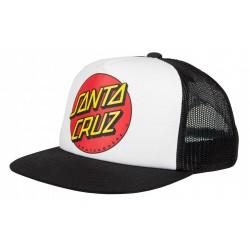 CASQUETTE SANTA CRUZ CLASSIC DOT CAP - WHITE/BLACK