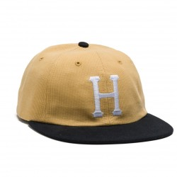 CASQUETTE HUF CLASSIC H 6P BEFORD CORD - AMBER/BLACK