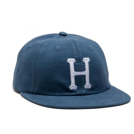 CASQUETTE HUF CLASSIC H 6P BEFORD CORD - BLUE JEAN