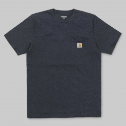 T-SHIRT CARHARTT WIP POCKET - DARK NAVY HEATHER