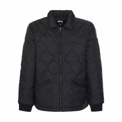 VESTE STUSSY QUILTED WORK JACKET - BLACK
