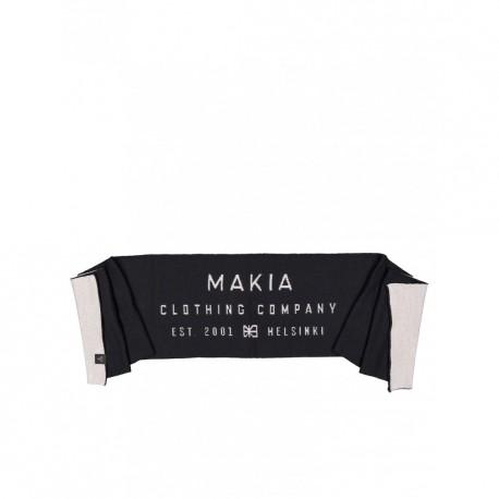 ECHARPE MAKIA MERINO LABEL SCARF - BLACK