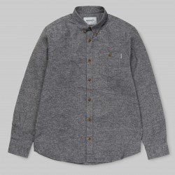 CHEMISE CARHARTT WIP LS CRAM - DARK GREY HEATHER