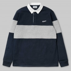 POLO CARHARTT VINTAGE BRUSH RUGBY - NAVY WHITE