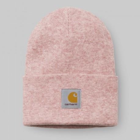 BONNET CARHARTT WIP ACRYLIC WATCH HAT - SOFT ROSE HEATHER