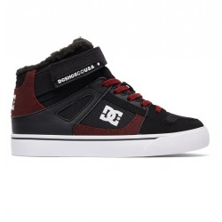 CHAUSSURE DC KID SPARTAN HIGH WNT EV - BLACK RED