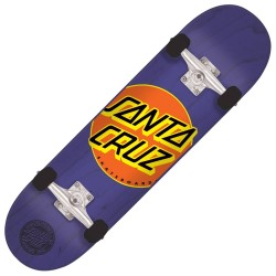 "SKATE COMPLET KID SANTA CRUZ MINI CLASSIC DOT 7"" X 29.2"" - PURPLE"