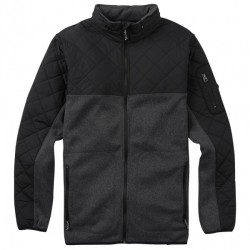 VESTE BURTON PIERCE FLEECE - TRUE BLACK HEATHER