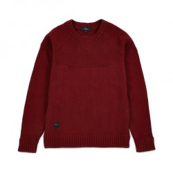 PULL MAKIA RAGLAN KNIT - BURGUNDY