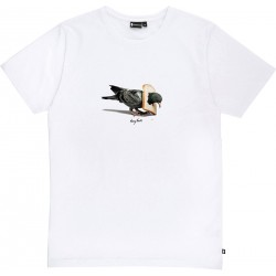 T-SHIRT BASK IN THE SUN PIGEON - BLANC