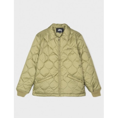 VESTE STUSSY QUILTED WORK JACKET - OLIVE