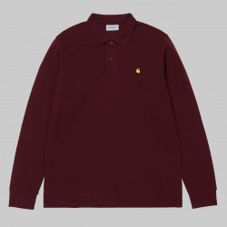 POLO CARHARTT MADISON LS - AMARONE / BEAM
