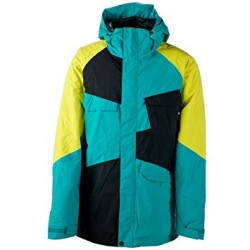 VESTE NITRO SNOWBOARD CLOSER - TURQUOISE/BLACK/CITRUS