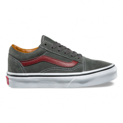 CHAUSSURE VANS OLD SKOOL JUNIOR - DAIM GUNMETAL