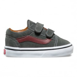 CHAUSSURE VANS OLD SKOOL V KIDS - DAIM GUNMETAL