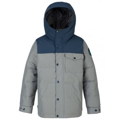 VESTE BURTON BARNONE BOY - SHADE HEATHER / MOOD INDIGO