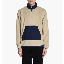 VESTE POLAR GONZALEZ FLEECE JACKET - SAND / NAVY