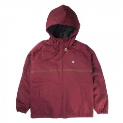 VESTE MAGENTA HOODED COACH - BURGUNDY