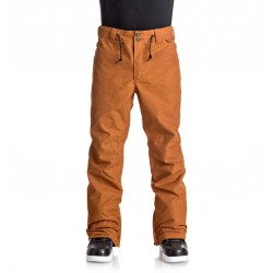 PANTALON SNOW DC RELAY PANT - WAXED LEATHER BROWN