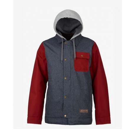 VESTE BURTON DUNMORE - DENIM / FIRED BRICK