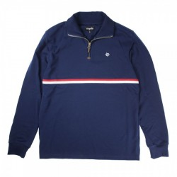 SWEAT MAGENTA NECK ZIP CLUB - NAVY