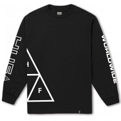 T-SHIRT HUF STADIUM LS - BLACK