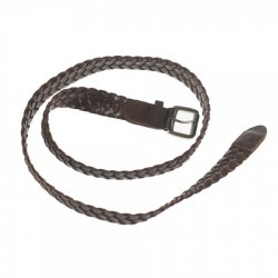 CEINTURE MAGENTA BRAIDED - BROWN