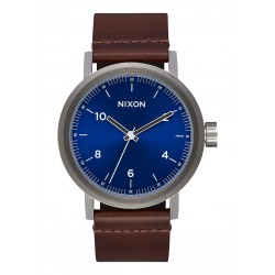 MONTRE NIXON STARK LEATHER - BLUE SUNRAY / BROWN