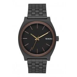 MONTRE NIXON TIME TELLER - ALL BLACK / BROWN / BRASS