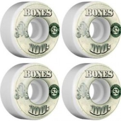 ROUES BONES 100S V4 OG WHITE - 52 MM