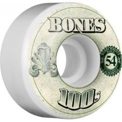 ROUES BONES 100'S V4 OG WHITE - 54 MM