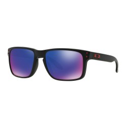 LUNETTES OAKLEY HOLBROOK - MATTE BLACK RED IRIDIUM