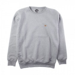 SWEAT MAGENTA CREWNECK BRODE - HTHR GREY