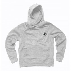 SWEAT MAGENTA HOOD CLASSIC - LIGHT HEATHER GREY