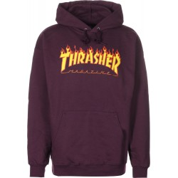 SWEAT THRASHER HOOD FLAMME - MAROON