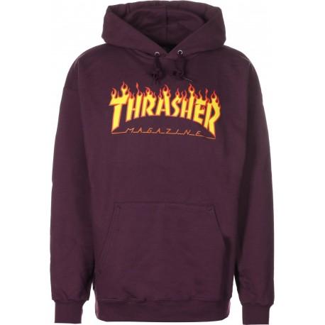 SWEAT THRASHER HOOD FLAMME - MAROON