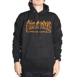 SWEAT THRASHER RICHTER HOOD - BLACK