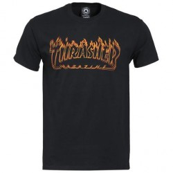 T-SHIRT THRASHER RICHTER - BLACK