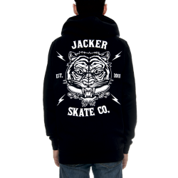 SWEAT JACKER HOODIE TIGER CO. - BLACK