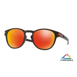 LUNETTES OAKLEY LATCH MATTE BLACK / PRIZM RUBY
