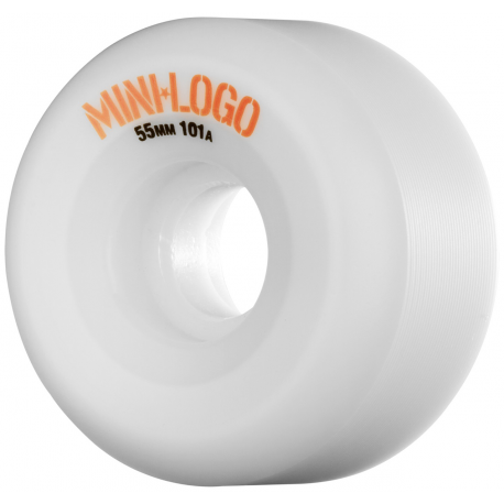 ROUES MINI LOGO WHEELS A-CUT 55MM 101A - WHITE