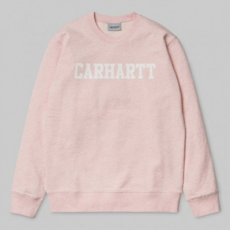 Rose Sandy Carhartt Sweat College Wip 9E2YIWDH