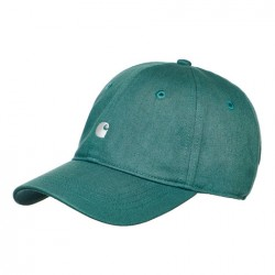 CASQUETTE CARHARTT MADISON LOGO CAP - SOFT TEAL / WHITE