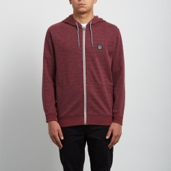 SWEAT ZIPPÉ VOLCOM LITEWARP - CRIMSON