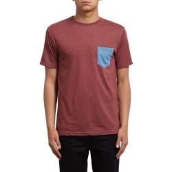 T-SHIRT VOLCOM POCKET - CRIMSON