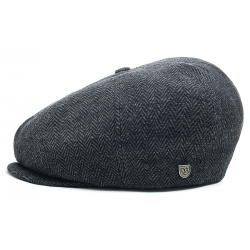 BERET BRIXTON CAP BROOD SNAP - GREY / BLACK