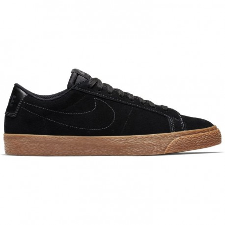 CHAUSSURES NIKE SB BLAZER LOW - BLACK BLACK GUM
